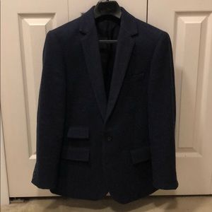 J Crew Blue Tweed Sport Coat
